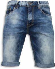 True Rise Basic Korte Broek Heren - Blauw Korte Broek Short Jeans Maat W30