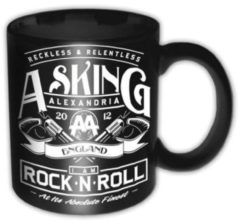 Zwarte Rock Off Asking Alexandria Rock N Roll - Mok Beker