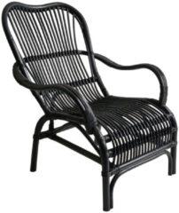 Xenos Rotan stoel bandung - zwart - 83x69x84 cm