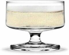 Transparante Holmegaard Stub champagne / dessert coupe 20cl set van 4