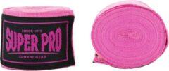 Super Pro Combat Gear Semi-Elastische Bandages - Roze - 450 cm