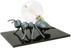Emporium Lampada da tavolo Antlante 40x40xh20 cm soggetto formica in resina bronzo