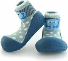 Attipas ZOO blauw babyschoenen, ergonomische Baby slippers, slofjes maat 22,5, 18-30 maanden
