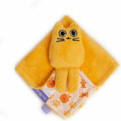 Milk & Moo Milk&Moo Tombish Cat Knuffeldeken Baby - Babydekentje - Oranje