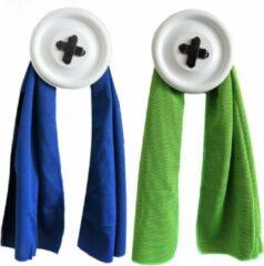 Bobbels & Putten Sport handdoek set - 2 x cool towel - blauw + groen - ice towel- koel handdoek - cold pack - verkoelende handdoek - sterk absorberend - snel drogend - yoga - fitness - hard lopen