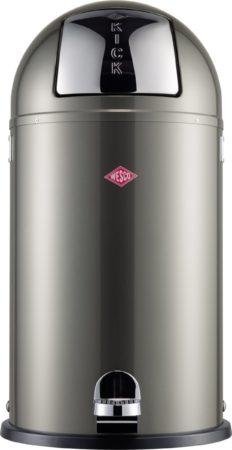 Afbeelding van Donkergrijze Wesco Kickboy pedaalemmer 40 liter