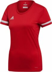 Witte Adidas T19 S/S Jersey Women Power red/white