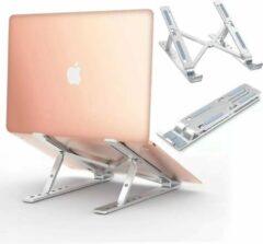 LOUZIR inklapbare Laptop Standaard - Verstelbaar en Opvouwbaar - Aluminium Laptop en Tablet Standaard.