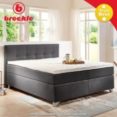 Breckle Boxspringbett Arga Best 180x200 cm inkl. Gel-Topper