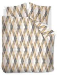 Beddinghouse Maine dekbedovertrek - 100% katoen - Lits-jumeaux (240x200/220 cm + 2 slopen) - 2 stuks (60x70 cm) - Goud