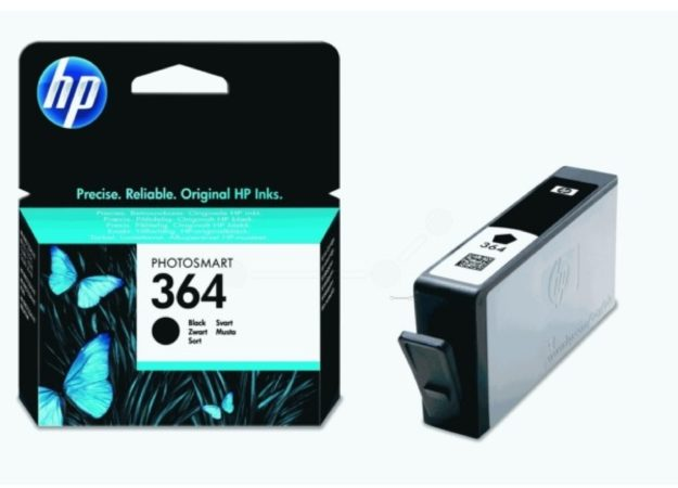 Afbeelding van HP inktcartridge 364, 250 pagina's, OEM CB316EE, zwart