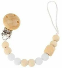 Babygifts4you Speenkoord - Speen - Speenketting- Koord - Kralen - Hout-Wit