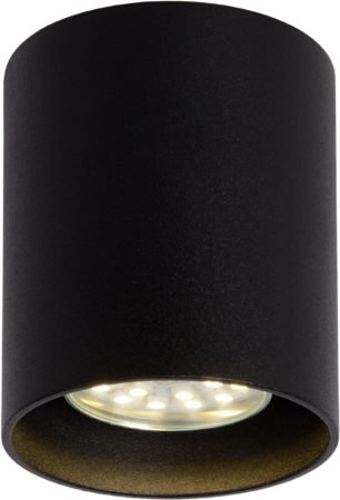 Afbeelding van Zwarte Lucide Plafondspot Bodi Rond GU10 1-Lichts Dimbaar - Zwart