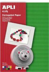 APLI Geribbeld karton 180 g/m² - 10 vel/kleuren