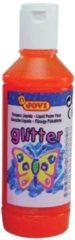 Jovi Plakkaatverf Glitter flacon van 250 ml, oranje