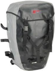 Fox-Line Fahrrad-Rucksack für Hecktaschen Fox-Line schwarz/grau