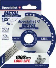 SSpecialist+ Diamant-doorslijpschijf voor metaal 125 mm x 1,4mm x 22,23 mm