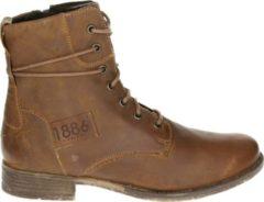 Rode Josef Seibel SIENNA 63 - Volwassenen VeterlaarzenHalf-hoge schoenen - Kleur: Cognac - Maat: 38
