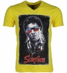 Local Fanatic T-shirt - Scarface - Geel T-shirt - Scarface - Geel Heren T-shirt Maat XS