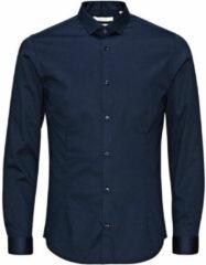 Marineblauwe JACK & JONES PREMIUM Parma super slim fit overhemd