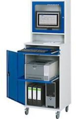 Rau Computer-Schrank Typ 650-M65, stationäre oder mobile Ausführung, B 650 x T 520 x H 1770 mm
