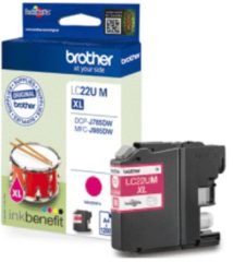 Paarse Brother LC-22UY inktcartridge Original Geel