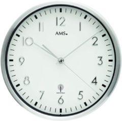 Zilveren AMS 5912 Funkwanduhr modern - Serie: AMS Wanduhren
