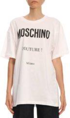 Bianchi T-shirt Over In Cotone Stretch Con Maxi Stampa Moschino Couture Milano