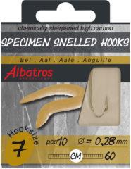 Albatros Hakenboekje Paling 60 cm - Hakenboekjes - 10 Ø 0.25mm Zeevis