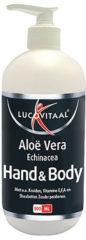 Lucovitaal - Hand & Body Crème - Pomp - 1 stuk - 500 milliliter - Handcrème