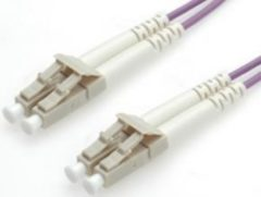 Paarse Equip LC/LС 50/125μm 1.0m Glasvezel kabel 1 m OM4 Violet