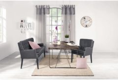 IMPRESSIONEN living Esstisch, dekorative Platte, rustikal, Dattelholz und Metall