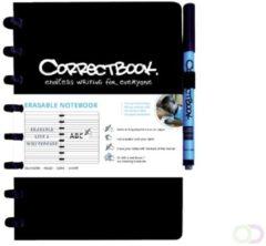 Correctbook A5 gelijnd uitwisbaar / herbruikbaar schrift, zwart