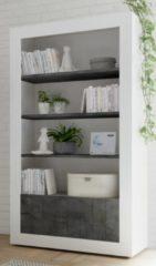 Pesaro Mobilia Open boekenkast Urbino 190 cm hoog in hoogglans wit met oxid