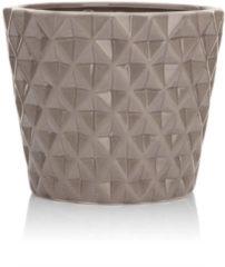 HSE24 Keramiktopf mit Struktur - Braun