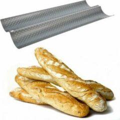 Decopatent® Stokbroodvorm - Bakvorm voor Stokbrood - 2 rijen - Baguette bakvorm - Stokbroodvorm patisse - 38 x 16.5 x 2 Cm