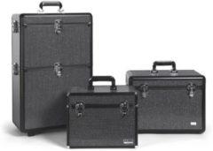 Degros Strass xl aluminium koffer met 2 opbergniveaus-sibel