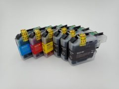 Cyane KATRIZ® huismerk inkt voor Brother 3x LC223XL BK + LC223XL C+ LC223XL M+ LC223XL Y (6stuks) - Met chip