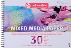 Witte Mixed media papier A3-formaat 250g/m² FSC-mix 30 vellen