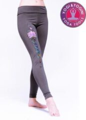 Grijze Yogi & Yogini Yoga legging Lotus Lsportlegging - L