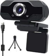 Zwarte Takmach Webcam met Statief- met Microfoon -Webcam -Verstelbare lens - met USB - Full HD 1080P - Camera - Thuiswerken - voor Windows en Mac