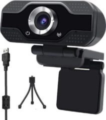 Zwarte Takmach Professionele Webcam Full HD 1920x1080 Pixels Met ingebouwde microfoon + Gratis Webcam Cover & Tripod - Webcam voor PC - Webcams - USB Microfoon - Thuiswerken - Webcam met microfoon - Thuiswerk pakket - Thuiswerkplek - Webcam - Thuis