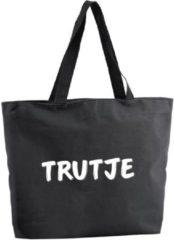 Shoppartners Trutje shopper tas - zwart - 47 x 34 x 12,5 cm - boodschappentas / strandtas