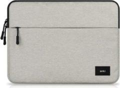 Grijze Shop4 - MacBook Air 13 inch (2018) Sleeve - Anki Series Licht Grijs