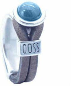 Qoss Taupe Ring Gwen Hemelsblauwe Bol - Maat L