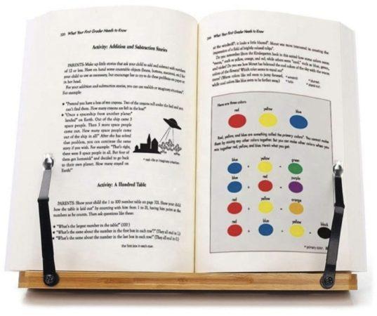 Afbeelding van Bruine LeafU leesboek Standaard - Bamboe Boekenstandaard - Kookboekstandaard - iPad Standaard/Tablet Standaard - Boekenhouder - Book holder