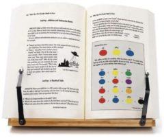 Bruine LeafU leesboek Standaard - Bamboe Boekenstandaard - Kookboekstandaard - iPad Standaard/Tablet Standaard - Boekenhouder - Book holder