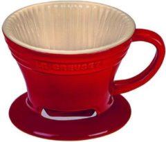 Donkerrode Le Creuset Koffiefilter van aardewerk 9 cm