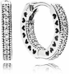 Pandora 296317CZ Oorbellen Hearts zilver