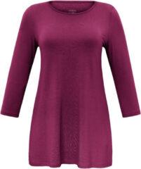 Lang shirt met ronde hals en mouwen in 3/4-lengte Van Anna Aura roze
